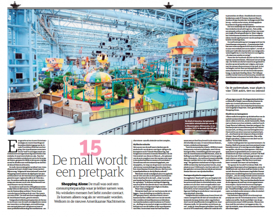 De mall wordt een pretpark. Screenshot NRC Handelsblad