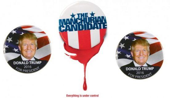 Een complottheorie die tijdens de Amerikaanse voorverkiezingen bij zowel links als rechts in zwang was: Donald Trump als schaduwkandidaat van de Democraten. Foto: Paramount Pictures / eBay