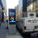 LinkNYC console in Midtown Manhattan. Foto Hans Klis