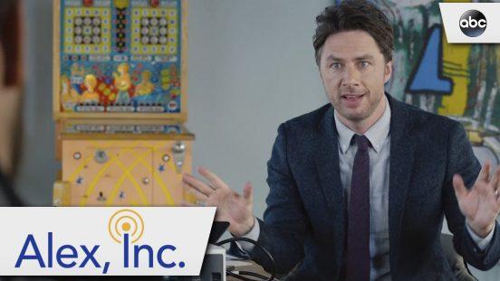Alex Inc, de ABC-serie gebaseerd op podcast StartUp van Gimlet Media. Foto ABC