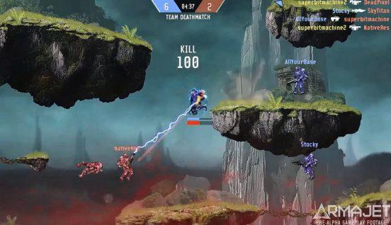 Met 'Armajet' lijkt uitgever Super Bit Machine de perfecte shooter in handen te hebben. Foto: Super Bit Machine