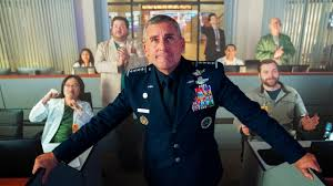 Steve Carell in Netflix' Space Force. Foto Netflix.
